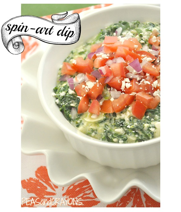 Healthified Spinach and Artichoke Dip