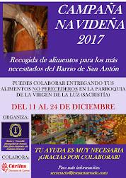 CAMPAÑA NAVIDEÑA DE RECOGIDA DE ALIMENTOS PARA LOS MÁS NECESITADOS DEL BARRIO DE SAN ANTÓN