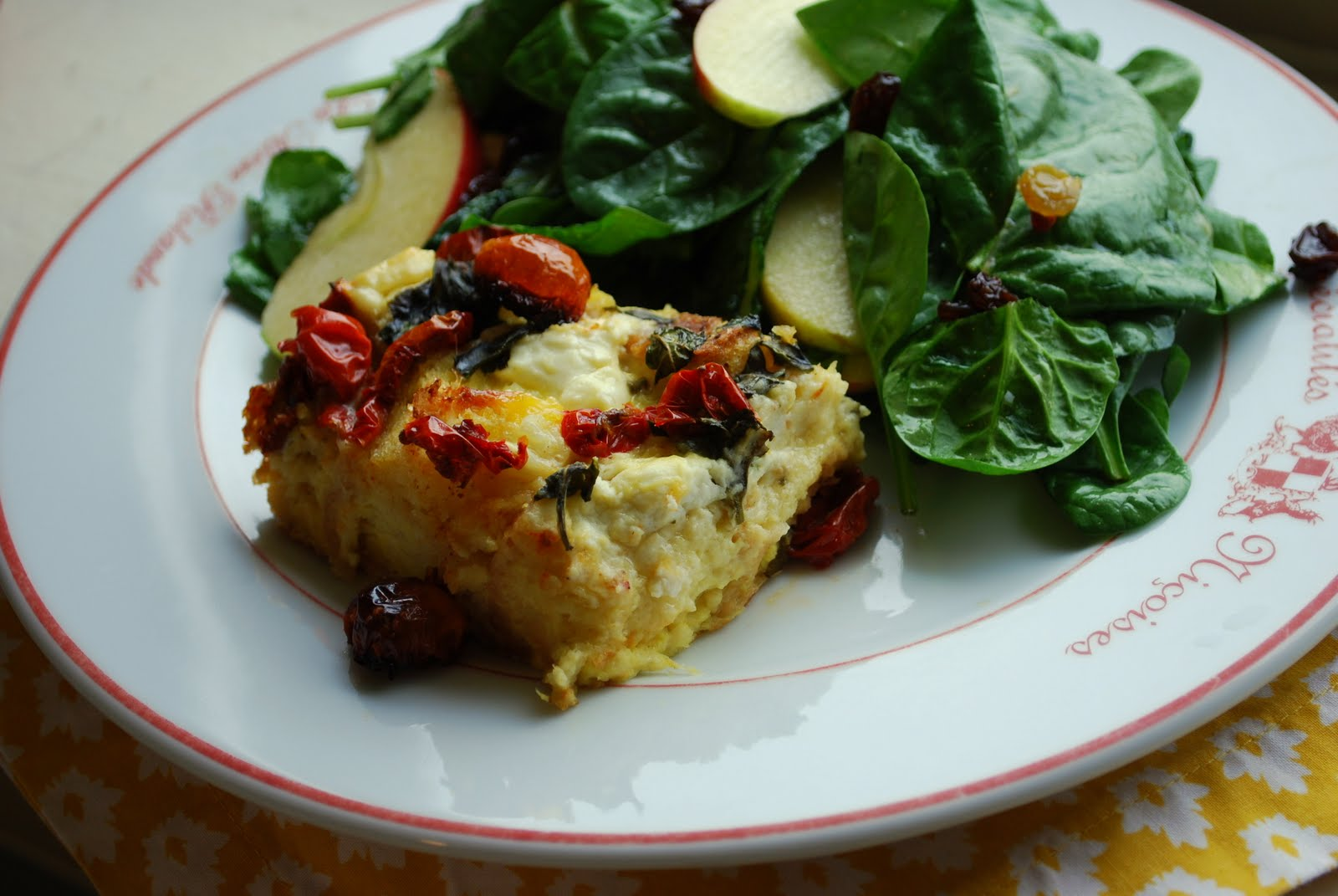 Egg Casserole With Italian Cheeses, Sun-Dried Tomato And Fresh Herbs