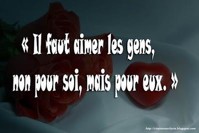 proverbe La vie d'amour