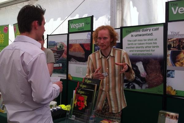 VegFest Bristol 2012 - stall - Vegan Society