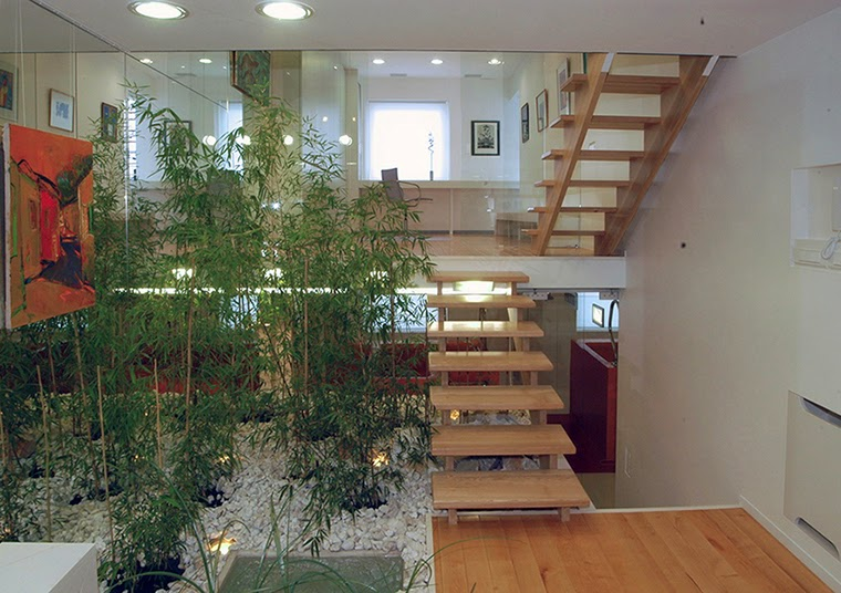 elegant wooden stairs
