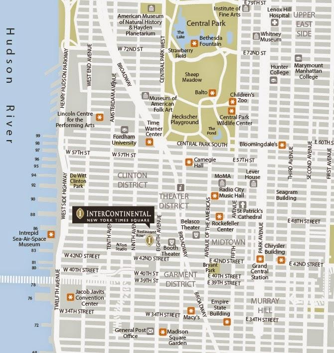 como llegar a hotel InterContinental New York Times Square