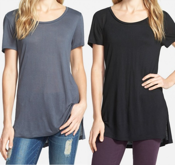 Halogen Scoop Neck Long Tee