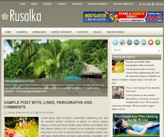 Rusalka-Blogger-Template