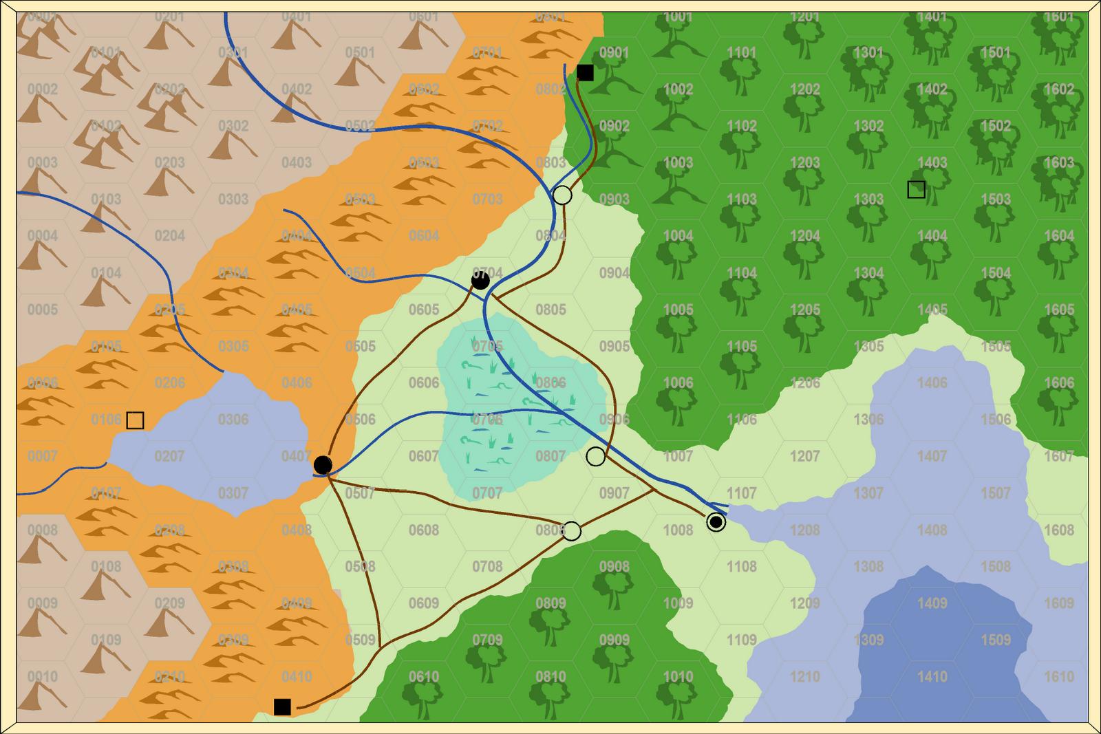 Dagger Run Hex Crawl Map Redo - Map how far i ran