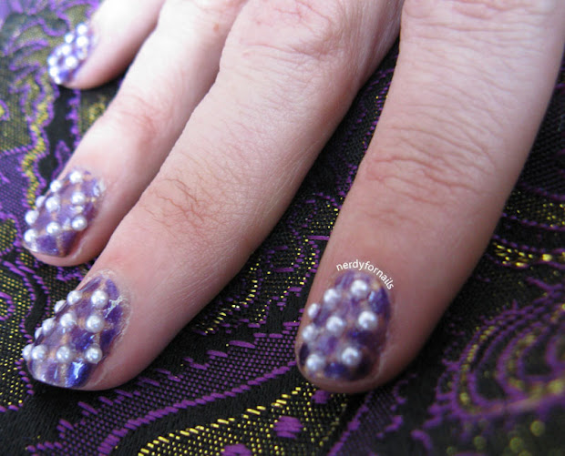 nerdy nails purple wedding