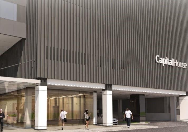 Drop Off Area of Capital House New Office Building in Bonifacio Global City