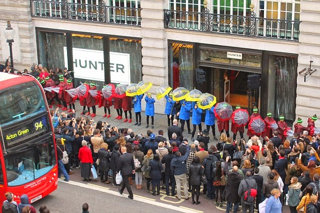 Hunter flagship store, Londres, inauguración