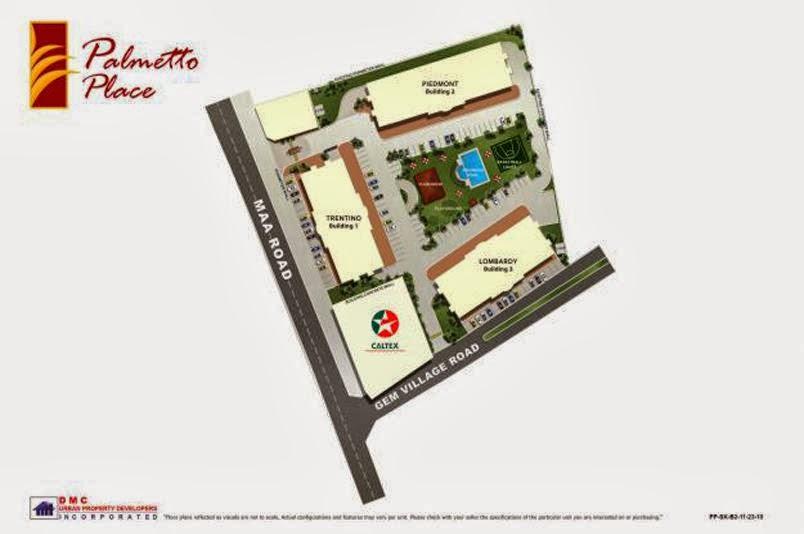 Palmetto Place Condominium, Ma-a, Davao City Vicinity Map