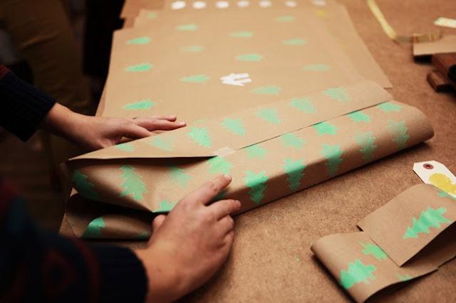 Как самим сделать упаковочную бумагу