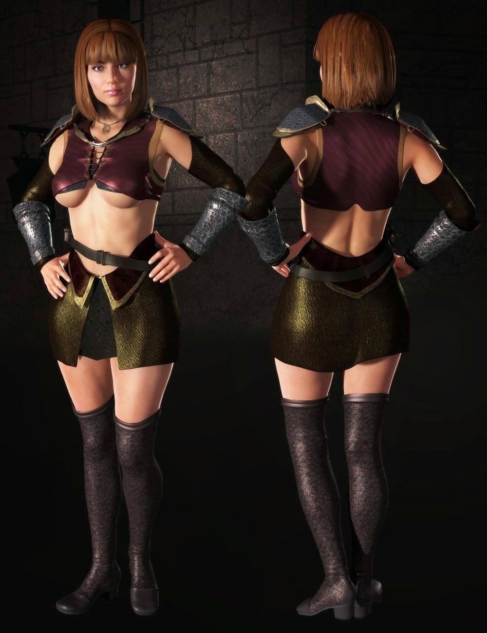 3d Models Art Zone - Mistral Fighter for Genesis 2 Female(s)