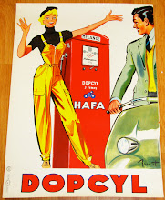 1940s French Art Deco Pin Up Poster