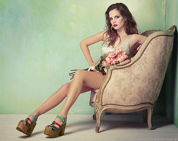 Lady Stork primavera verano 2015 sandalias verano 2015 con plataformas.
