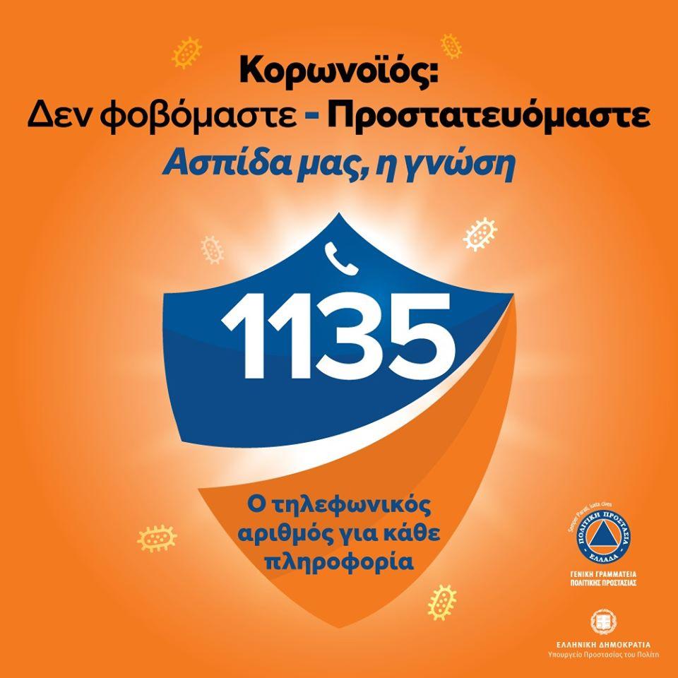 ΚΟΡΟΝΟΪΟΣ: Τηλεφωνικός αριθμός για κάθε χρήσιμη πληροφορία