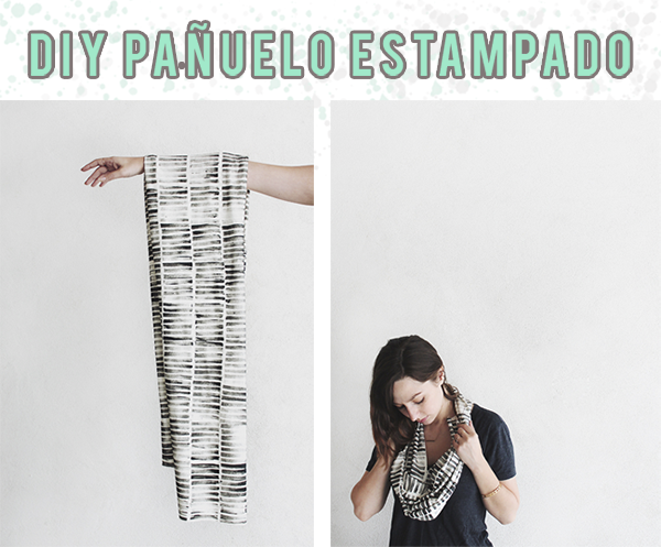 pañuelo estampado diy
