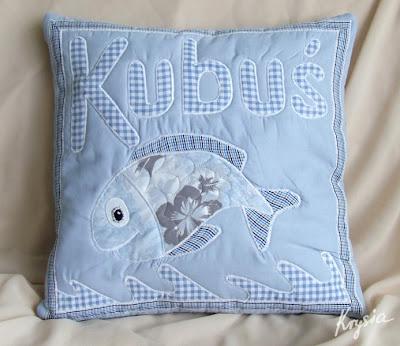 poduszka personalizowana z rybą