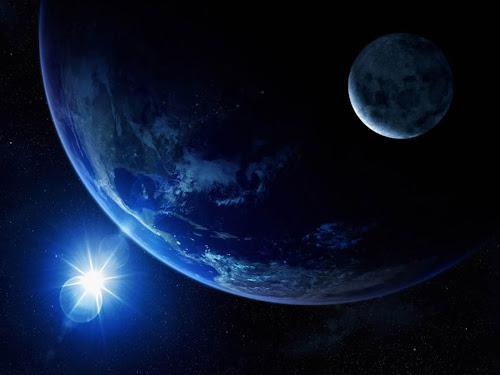 Gambar Bulan dan Bumi yang Menakjubkan   gudang gmbar