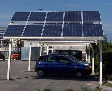 Pergolato per pannelli fotovoltaici