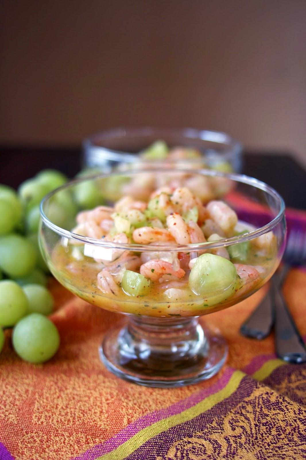 Shrimp Salad: Tarragon, Mango, Grape - simplelivingeating.com