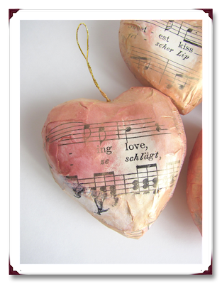 Papier-mache' hearts