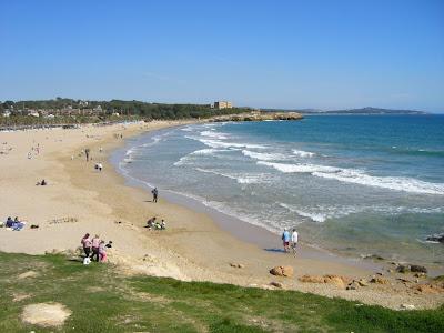 Arrabassada beach in Tarragona