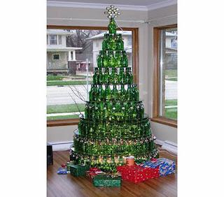 albero natale bottiglie