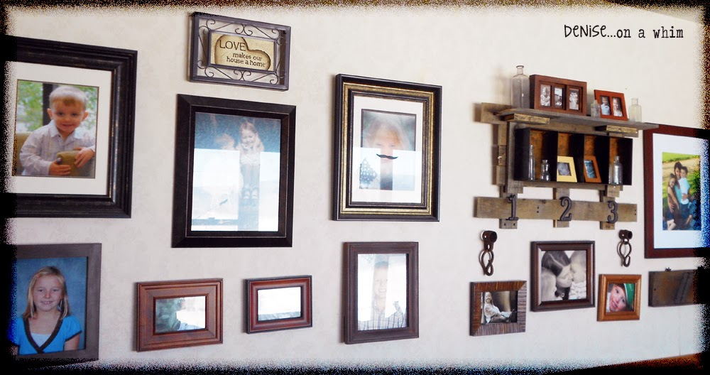 Living room gallery wall via http://deniseonawhim.blogspot.com