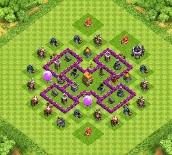 War trophy base town hall 6 designs with air sweeper clash of clans