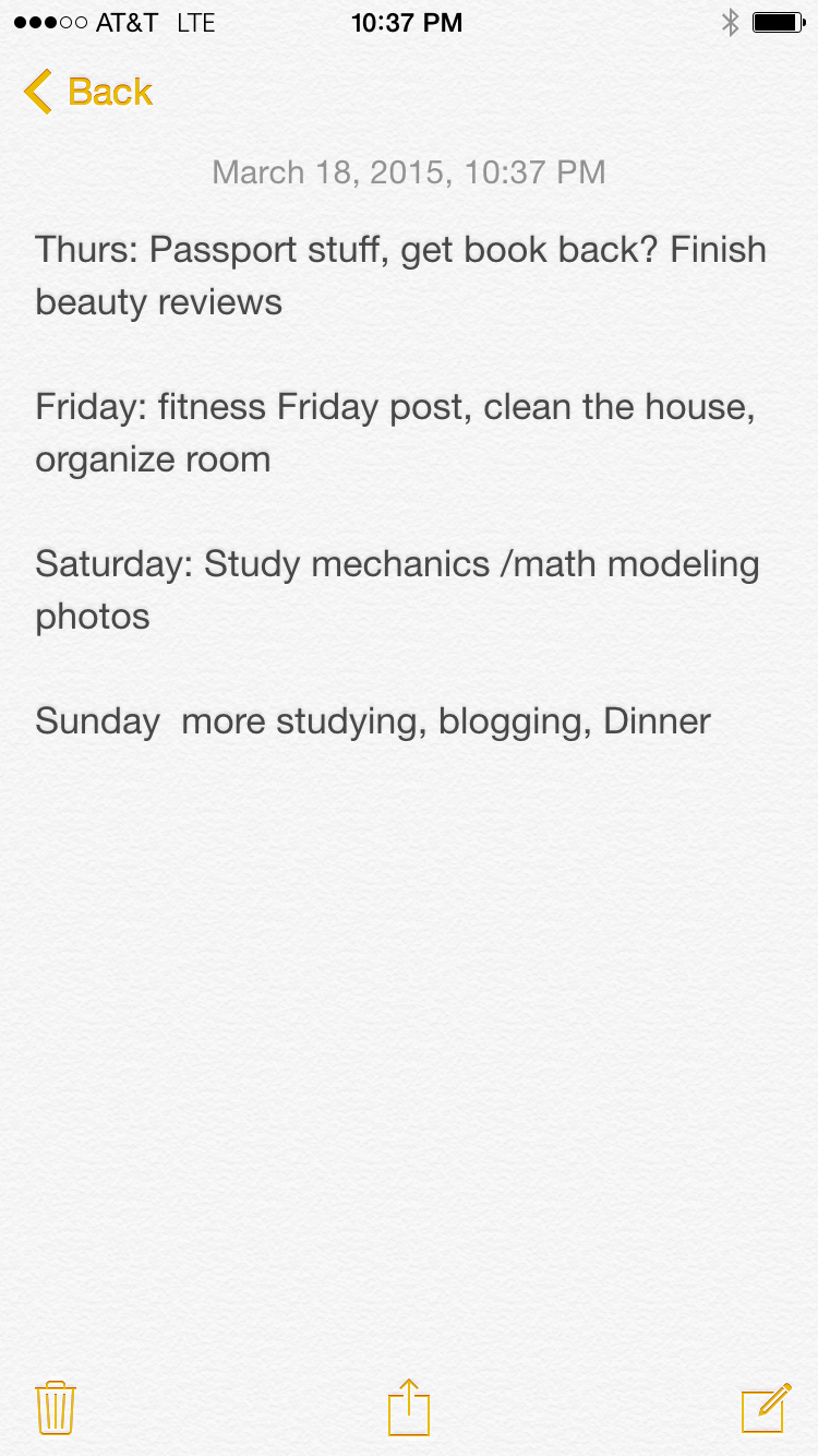 schedule-for-the-week
