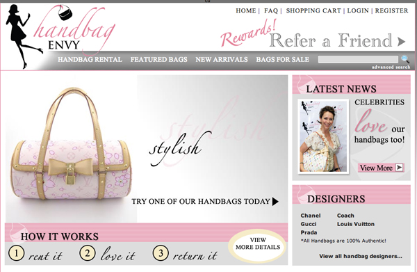 rent handbag on www.designandfashionrecipes.com