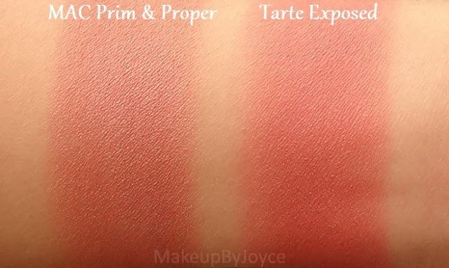 Tarte Exposed Blush Swatch Mac Prim Proper