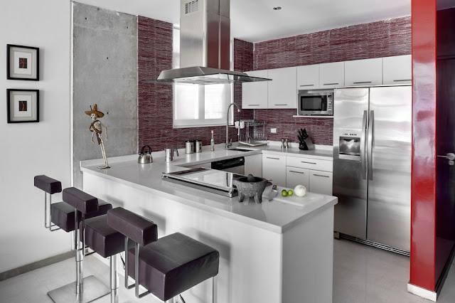 Espacios integrados cocina sala comedor en artesydisenos blogspot com