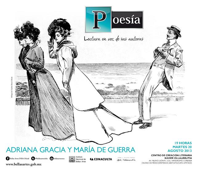 """El ciclo """"Poesía, lectura en voz de sus autoras"""" presenta a Adriana Gracia y María de Guerra"""