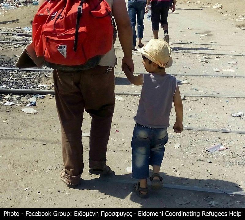 Syrian refugees Idomeni, Greece