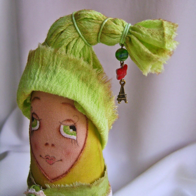 Интерьерная игрушка-елочка. Портрет