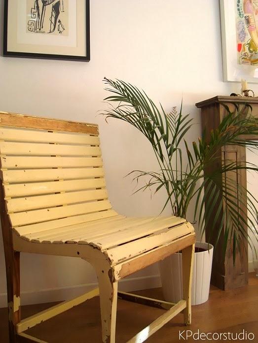 Comprar asiento decorativo, butacas vintage originales de madera