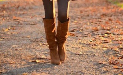 Autumn Brown knee Boots