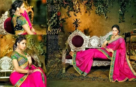 Pink Embroidered Saree Collection
