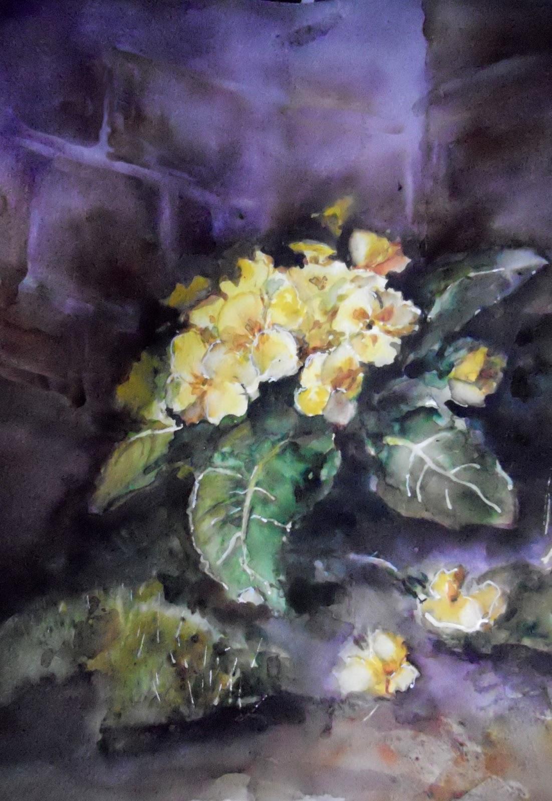 Peintures et esquisses aquarelle fleurs for Aquarelle fleurs
