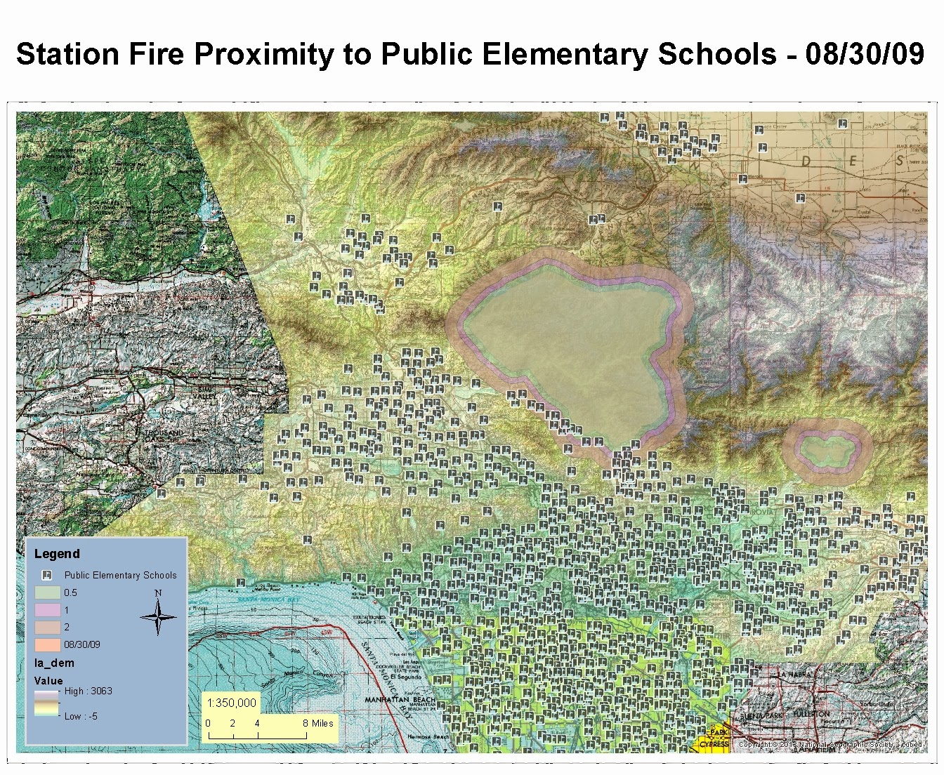 this was going to be the first map of a series detailing the air quality and air pollution associated with the station fire
