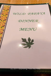 Wild Papaya Dinner Menu Page 1