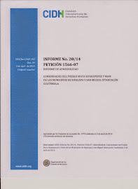 CIDH: Informe de Admisibilidad No. 20/14 Comunidades del Pueblo Maya Sipakepense y Mam de Guatemala