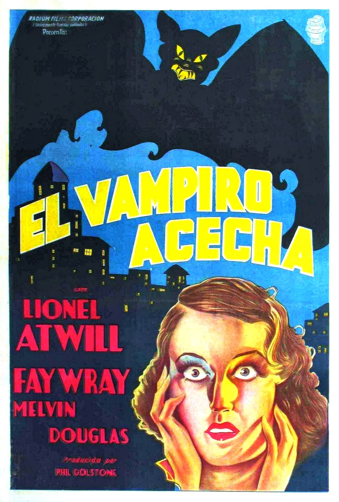 The Vampire Bat Spanish Film Poster