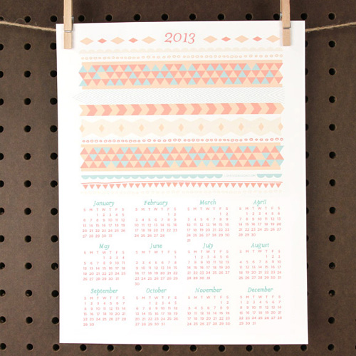 Love+Vs+Design+2013+Printable+Calendar Happy New Year | Free 2013 Printable Calendars