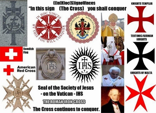 holy roman empire rules today  cross goes back to babylon  it is the pagan symbol of sun worship