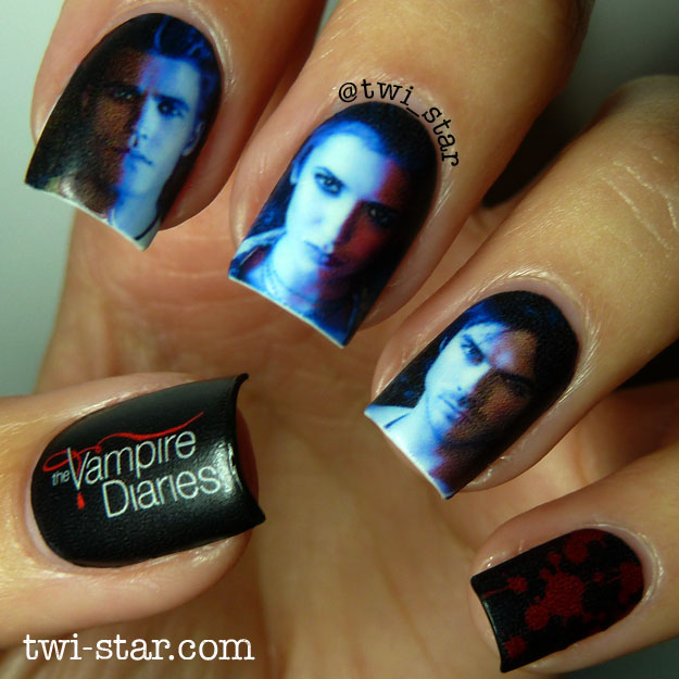 Vampire Diaries Nail Art Water Decal Mani It S The Season 6 Premiere