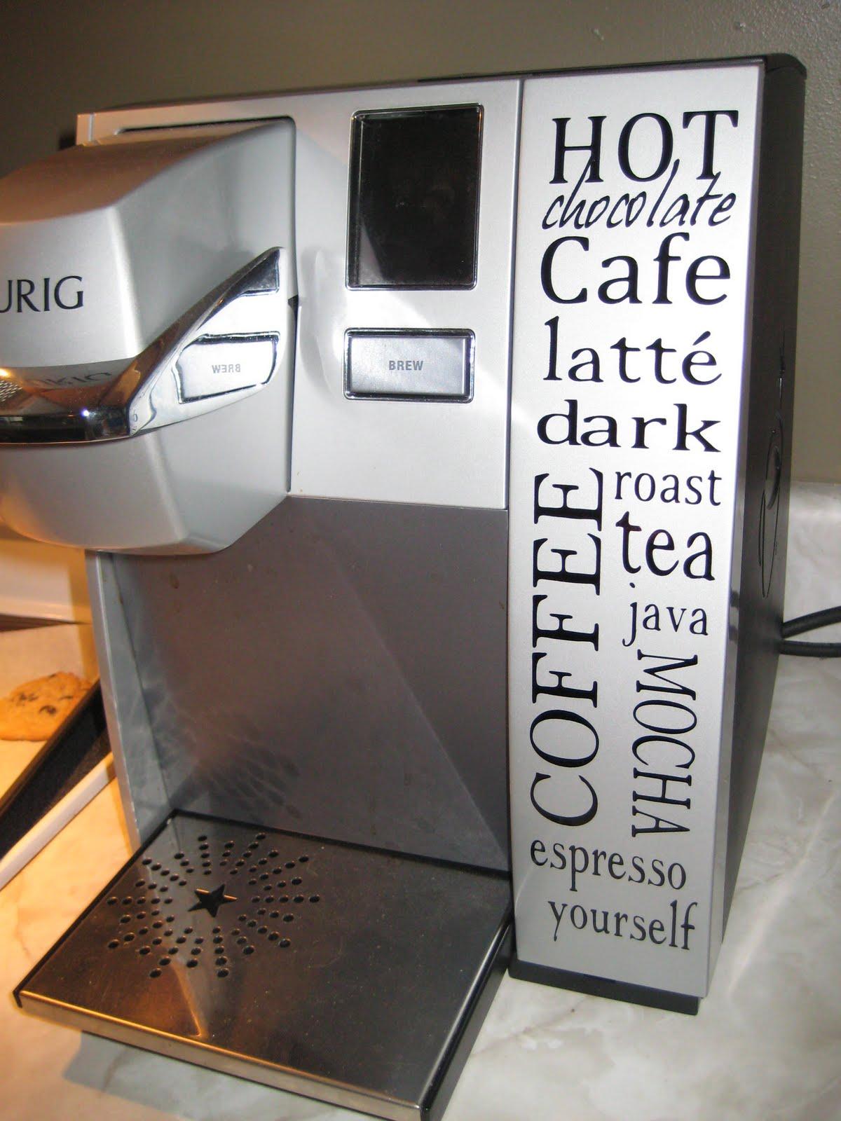 subway art for keurig coffee hot chocolate machines. Black Bedroom Furniture Sets. Home Design Ideas