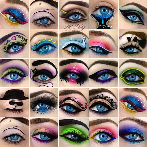Maquiagens variadas de Tal Peleg