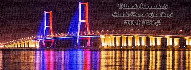 Cover FB Jembatan Suramadu Surabaya, Sampul FB Jembatan Suramadu Surabaya, Gambar Jembatan Suramadu Surabaya, Foto Jembatan Suramadu Surabaya